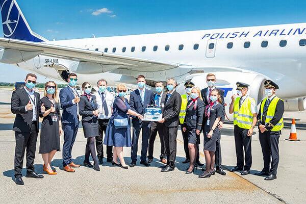 Аэропорт Будапешта празднует 13-й маршрут LOT Polish Airlines